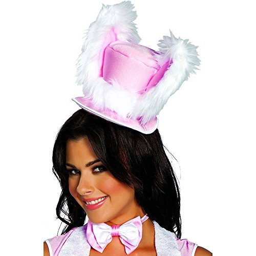 Pink Top Hat with White Rabbit