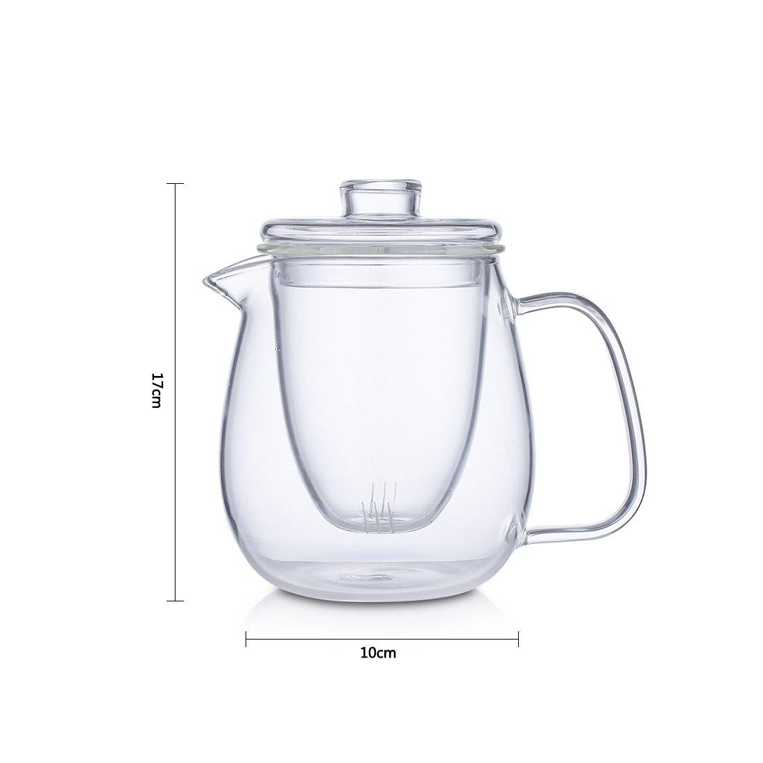 oneisall Glass Pitcher With Lid & Infuser - Borosilicate Glass Carafe 40oz/1200ml BPA-FREE Heat-resistant,Perfect For Hot&Cold Water,Tea,Juice,milk DHTGYBL581 (1200ML) by oneisall (Image #4)