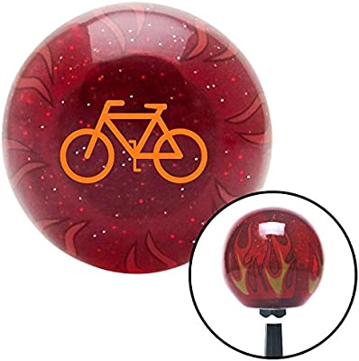 Orange Bicycle American Shifter 240174 Red Flame Metal Flake Shift Knob with M16 x 1.5 Insert