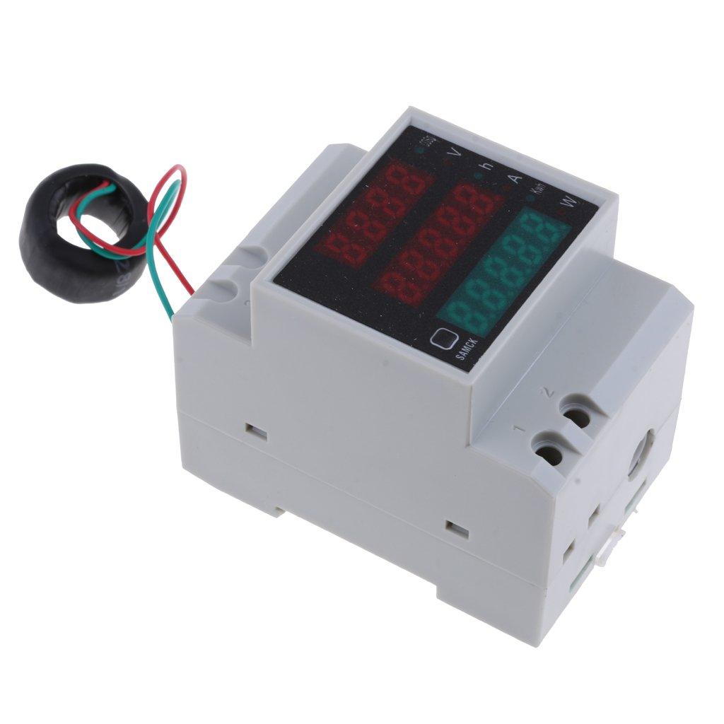 MagiDeal AC 80-300V LED D52-2047 Voltmeter Ammeter Wattmeter Voltage Power Test Meter