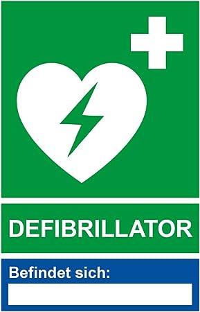 Aufkleber Defibrillator Mit Leerfeld Standort Vinylaufkleber Wetterfest 115 X 175 Mm Bürobedarf Schreibwaren