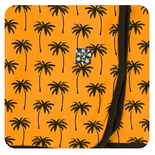 KicKee Pants Print Swaddling Blanket in Apricot Palm Trees - One Size