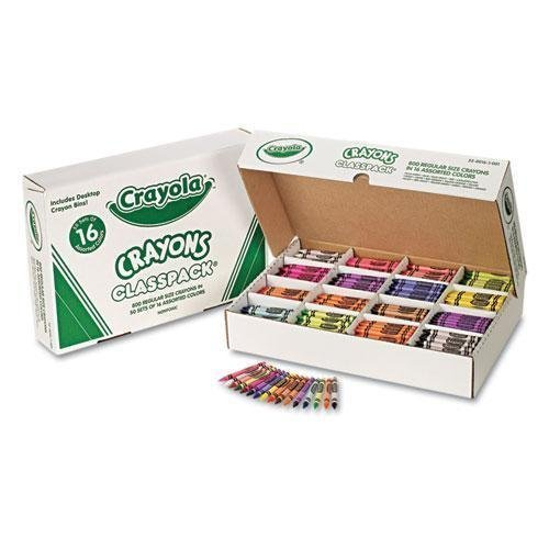 Crayon Assortment - Crayola Classpack Regular Crayons, 16 Colors, 800/BX