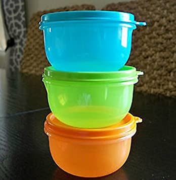 Amazon.com: Tupperware ideal Little Kids Bowl Set 3 Frutas ...