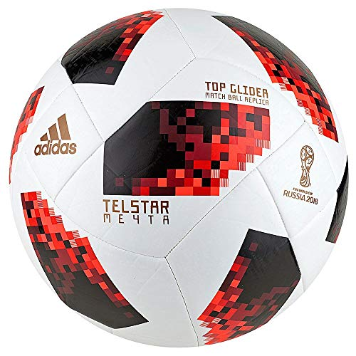 (adidas World Cup KO Top Glider Soccer Ball- White/Red 5 )