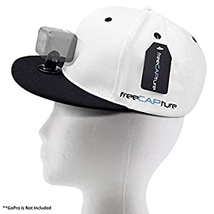Hat Compatible with Removable GoPro Camera Head Mount - Hero Action Camcorder HD Edition – Go Pro 4 Silver , 3 + Black , 2 White , 1- Helmet Accessory Strap Caps Harness Studio Accessories