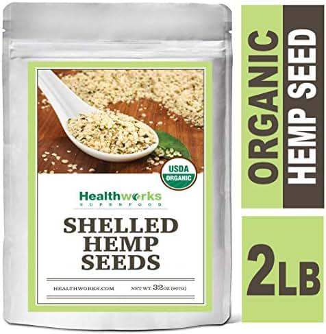 Healthworks Organic Hemp Seeds Raw Shelled 2 Pound