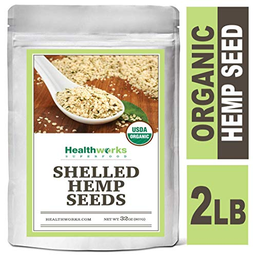 - Healthworks Organic Hemp Seeds Raw Shelled 2 Pound