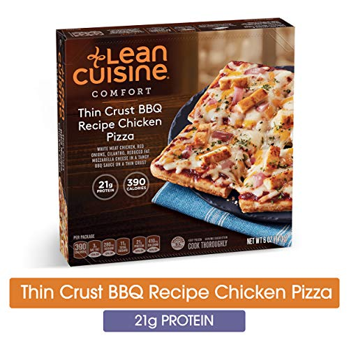 LEAN CUISINE COMFORT Thin Crust BBQ Recipe Chicken Pizza 6 oz. Box | Delicious Frozen Meals ()