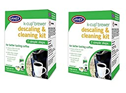 CleanCup Single Cup Brewer Cleaning and Descaling Kit (Pack of 2)