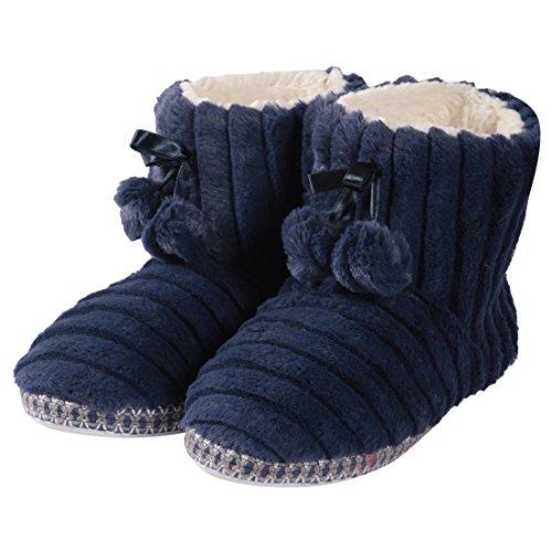 Forfoot Womens Cozy Fleece House Indoor Slipper Boots