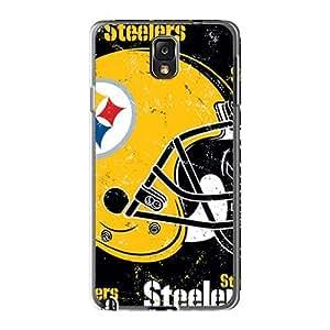 KennethKaczmarek Samsung Galaxy Note 3 Shock-Absorbing Cell-phone Hard Cover Custom Vivid Pittsburgh Steelers Pattern [AbS16301PpYo]
