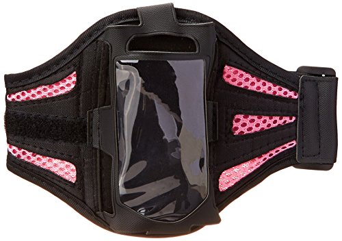 - Insten Deluxe Armband Compatible with Apple iPhone 4 - Version iPhone 4S - ATT - Retail Packaging - Black/Light Pink
