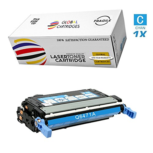 (GLB Premium Quality Remanufactured Replacement for HP 501A/502A HP 3600 Cyan Q6471A Toner Cartridge)