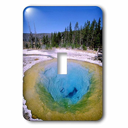 3dRose LSP_97282_1 Wyoming, Yellowstone Np, Geyser Basin-Us51 Cmi0012-Cindy Miller Hopkins Single Toggle Switch, Multicolored ()