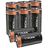 RCR123A Rechargeable Batteries Compatible Arlo Security Wireless Cameras and Flashlight [ 8 Pack 3.7V Li-ion CR123A ], Arlo Batteries Rechargeable, Tyrone Rechargeable CR123A Batteries