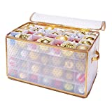 Simplify Ornament Storage, 112-Count-Gold, Gold
