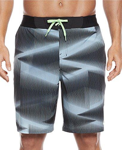 NIKE Mens Vapor Board/Swim Shorts NESS7459DS (36 Waist, Black/Industrial Blue-Volt) (Nike Knit Skirt)