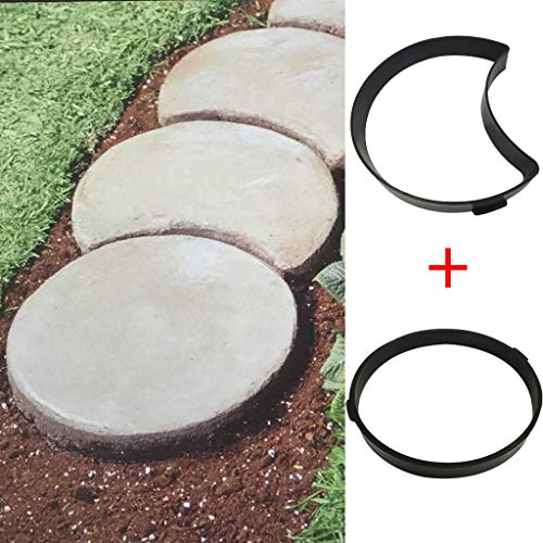 DIY Pavement Mold, Reusable Walk Maker Cement Concrete Molds, Stepping Stone Mold Pavers for Patio & Garden & Yard & Lawn (Mold The Lawn)