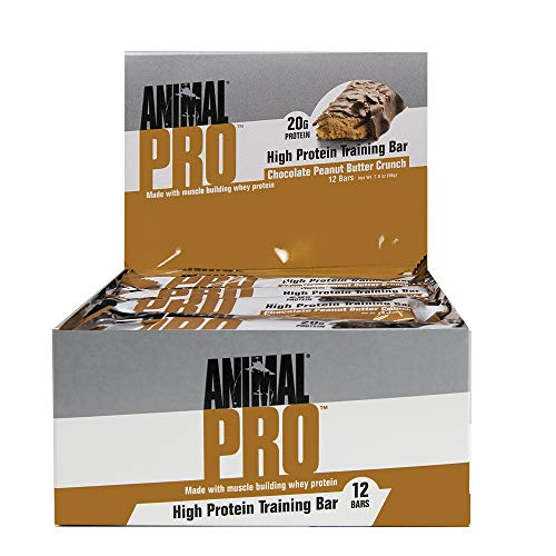 Animal Pro Protein bar – Great Tasting – 11g Fat – 19g Carbs – 20g Protein – Pre & Post Workout Fuel, Peanut Butter Crunch, 12Count