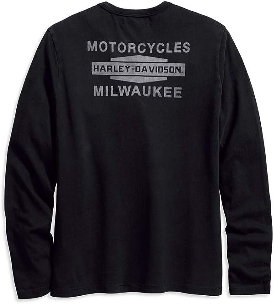 HARLEY-DAVIDSON Sweatshirt Flocked Logo