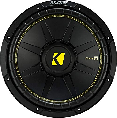 (Kicker 12 Inch CompC 300 Watt RMS 4 Ohm Single Voice Coil Subwoofer | 44CWCS124)
