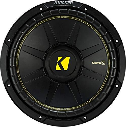 Kicker 12 Inch CompC 300 Watt RMS 4 Ohm Single Voice Coil Subwoofer | 44CWCS124 ()