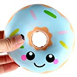 SANNYSIS Squishies Slow Rising Squishies Lovely Doughnut Cream Scented Jumbo Squishies Slow Rising Collection Slow Squishies Food Bread Cake 11×11×4cm (Blue)