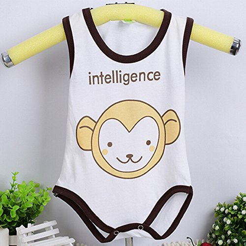 [Eonkoo Cute Animal prints baby -Girls sleeveless Bodysuit ,100% Cotton soft Comfortable skin Newborn] (Buffalo Bob Costume)