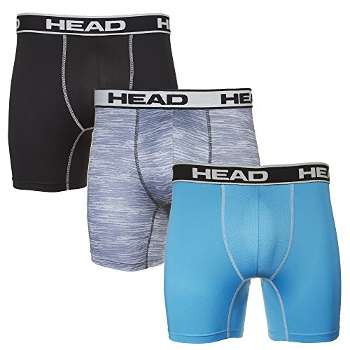 Head Boxer Shorts (HEAD Mens Performance Underwear 3 Pack Boxer Briefs)