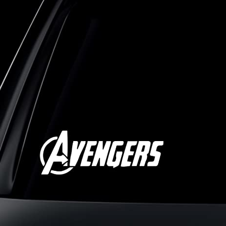 Amazoncom Avengers Logo Marvel Car Decal Sticker Automotive - Cool custom vinyl decals for carsamazoncom hulk vinyl decal sticker automotive