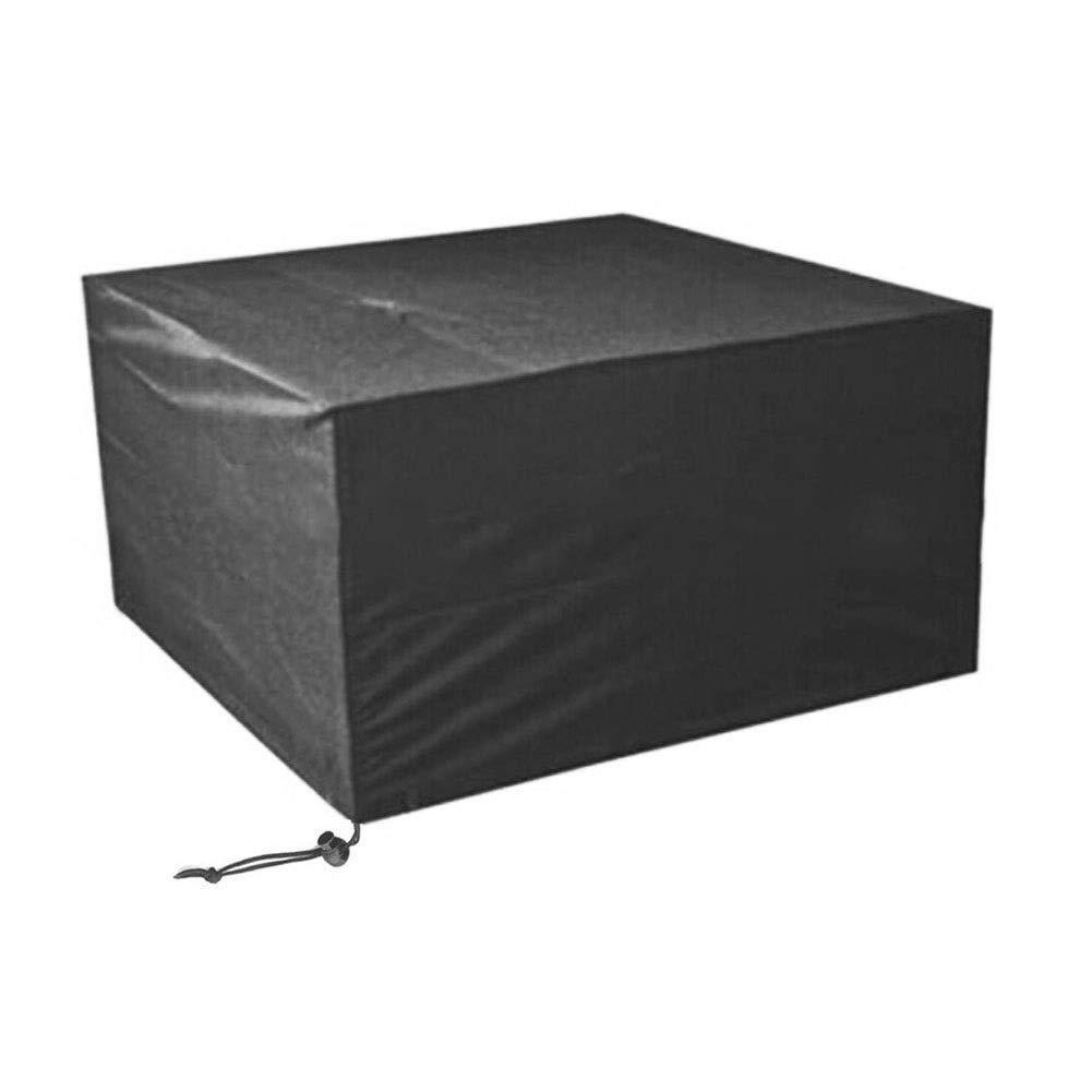 ファニチャーカバー ガーデン籐家具カバーオックスフォード屋外ガーデン防塵防水カバーガーデンテーブル家具カバー (Color : Black, Size : 270x180x89cm) B07T3D1RBJ Black 270x180x89cm