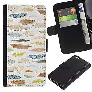 Planetar® Modelo colorido cuero carpeta tirón caso cubierta piel Holster Funda protección Para Apple (5.5 inches!!!) iPhone 6+ Plus ( Ornithology Selection )
