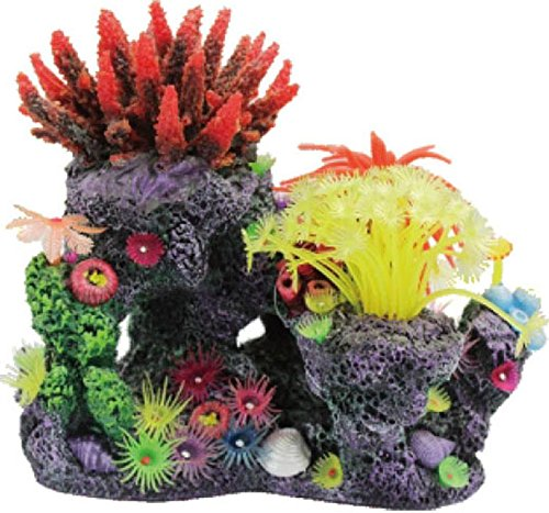Poppy Coral (POPPY PET YM-1004A Coral Reef Formation, 8 by 6 by 8