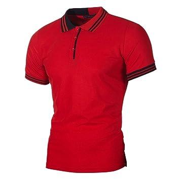 NISHISHOUZI La Moda Casual Mens Polo Shirt Hombres Camiseta de ...