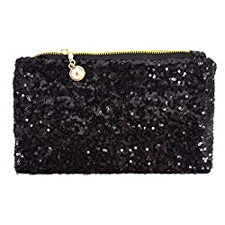 Women Shining Sequins Envelope Clutch