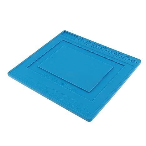 Homyl - Alfombrilla Universal de Silicona para reparación de Soldador y Mantenimiento, Color Azul