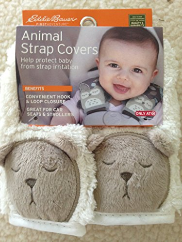 Eddie Bauer Animal Strap Covers White Sleepy - Eddie Bauer Car Seat And Stroller