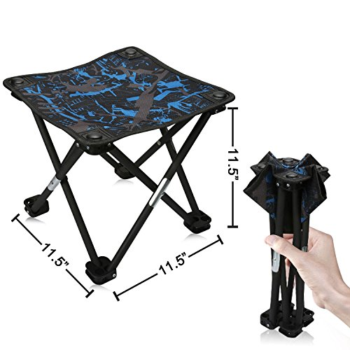 "Price comparison product image Mini Portable Folding Stool,Folding Camping Stool,Outdoor Folding Chair for BBQ,Camping,Fishing,Travel,Hiking,Garden,Beach,600D Oxford Cloth with Carry Bag,11.5""x11.5""x11.5""(Camouflage)"