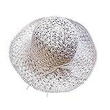 AOBRITON Sun Hats for Women Chapeau Beach Cap Sunshade Chapeu Tropical Travel Panama