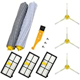 likeclean Replacement Parts for IRobot Roomba 800 900 Series 860 870 880 960 980 Vacuums,1 Set Extractors,3 Hepa Filters, 3 Side Brush