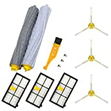 Replacement Parts for IRobot Roomba 800 900 Series 800 805 850 860 861 866 870 880 890 960 964 961 980 Vacuum Cleaner Accessories,1 Set Rollers Debris Extractors,3 Hepa Filters, 3 Side Brushes