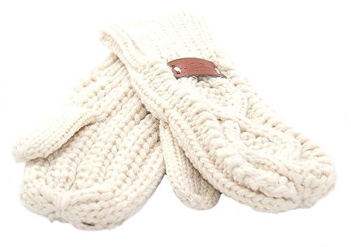 Aran tradiciones Diamond de punto guantes de invierno guantes