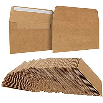 Amazon.com: Sobres de papel kraft de color marrón, 100 ...