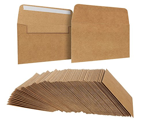 (Juvale A1 Kraft Envelopes 5 x 3 Inches 100 Pack)