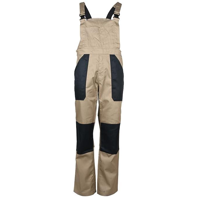 True Face - Pantalones con peto para la construcción, para hombre marrón Tabaco 52: Amazon.es: Ropa y accesorios