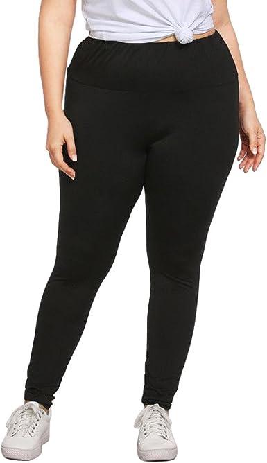 Sunenjoy Pantalon Femme Grande Taille, Leggings Sport Taille Haute Pantalon Yoga Running Filles Legging Élastique Été Casual Noir Pantalon Crayon Dame