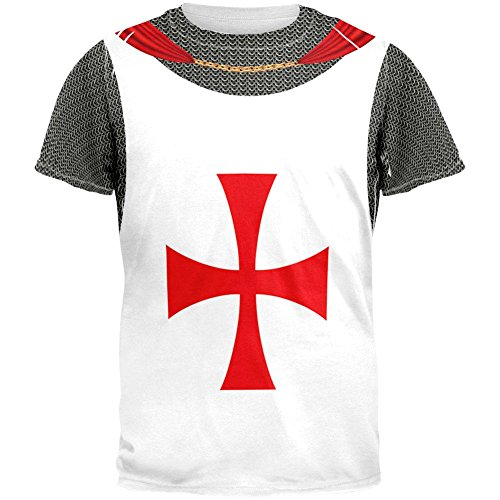 Knights Templar Costume All Over Adult T-Shirt - Small