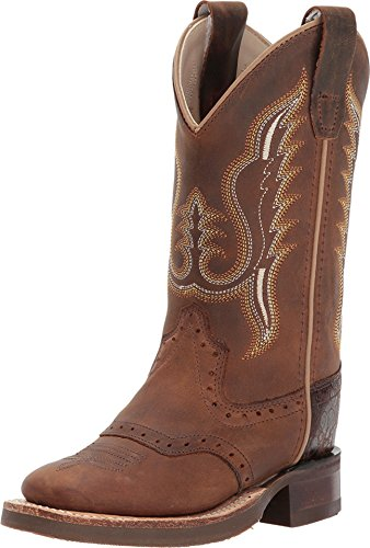 Old West Kids Boots Unisex Broad Square Toe (Toddler/Little Kid) Distress 2 Little Kid M M ()