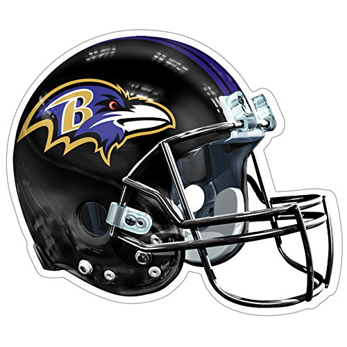 Large Helmet Logo Car Magnet - NFL Baltimore Ravens Logo Helmet Magnet (Pack of 1)